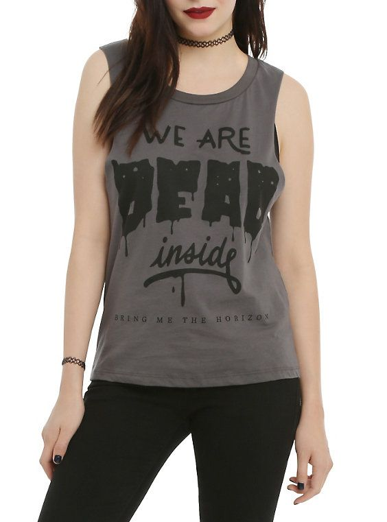 Are Dead Inside Girls Muscle Tank Top ER01