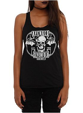 Avenged Sevenfold Death Bat Girls Tank Top ER01