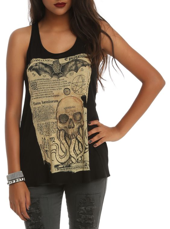Bat Octo-Skull Girls Tank Top ERF01