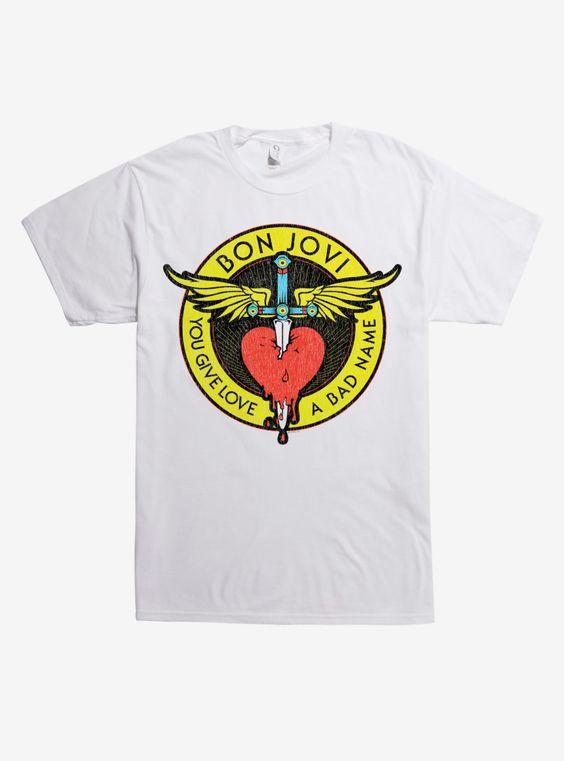 Bon Jovi Through the Heart T-Shirt ER01