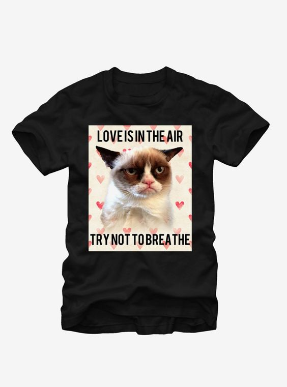 Grumpy Cat Love is in the Air T-Shirt ER01
