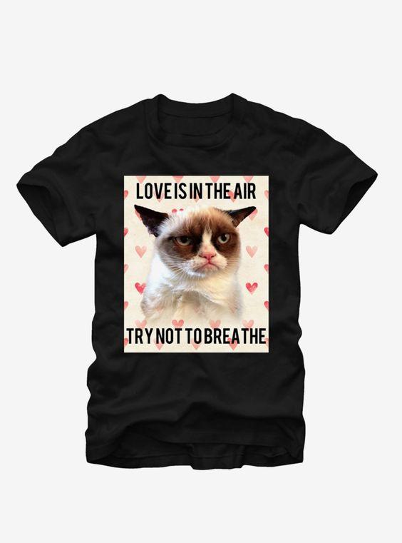 Grumpy Cat Love is in the Air T-Shirt ER01