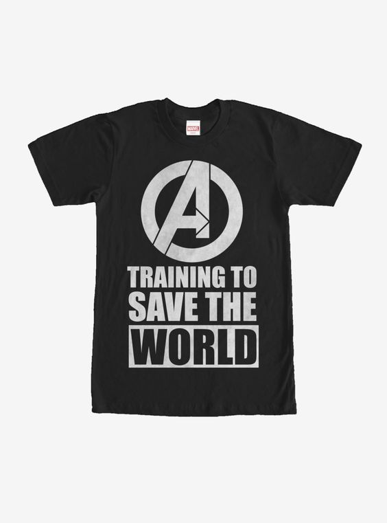 Marvel Avengers Training to Save World T-Shirt ER01