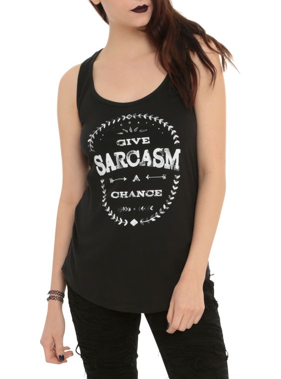 Sarcasm A Chance Girls Tank Top ER01