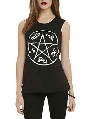 Supernatural Devil's Trap Girls Muscle Tank Top