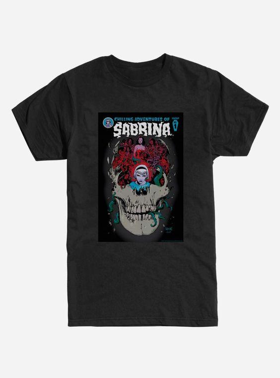 Adventures of Sabrina Skull Poster T-Shirt DV01