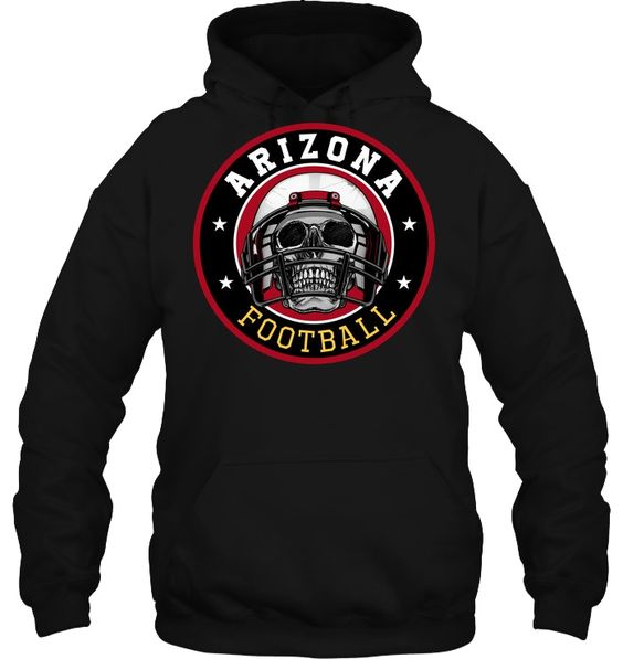 Arizona Football Skull Hoodie EL01