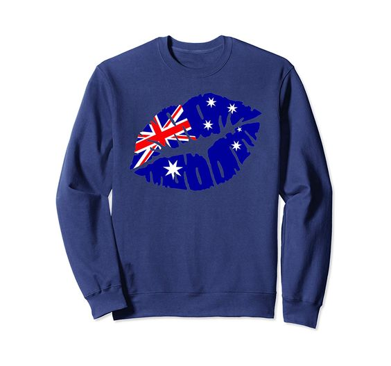 Australia flag Kiss Lips Sweatshirt DV01