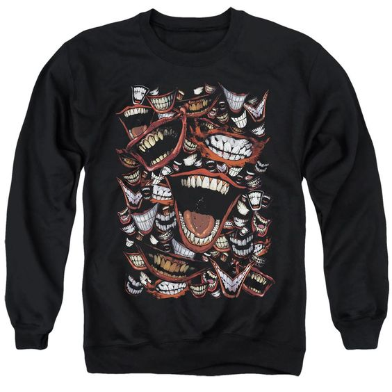Batman Joker Laught repeat Sweatshirt DV01