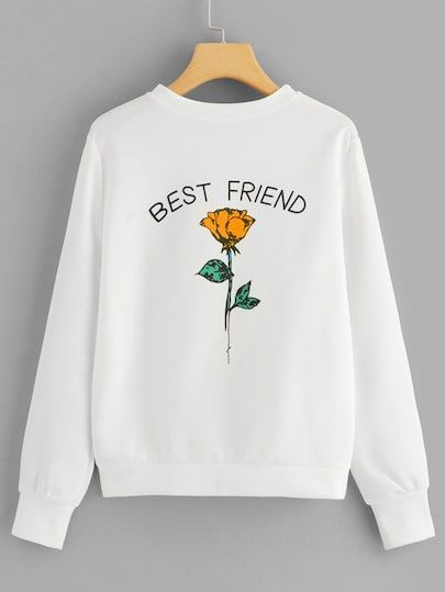 Best Friend Printed Sweatshirt DV