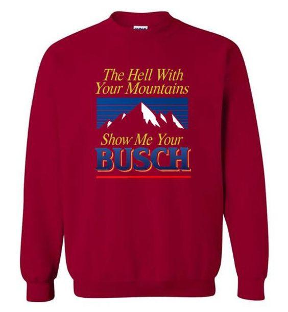 Busch Light Beer Crewneck Hell Sweatshirt DV01