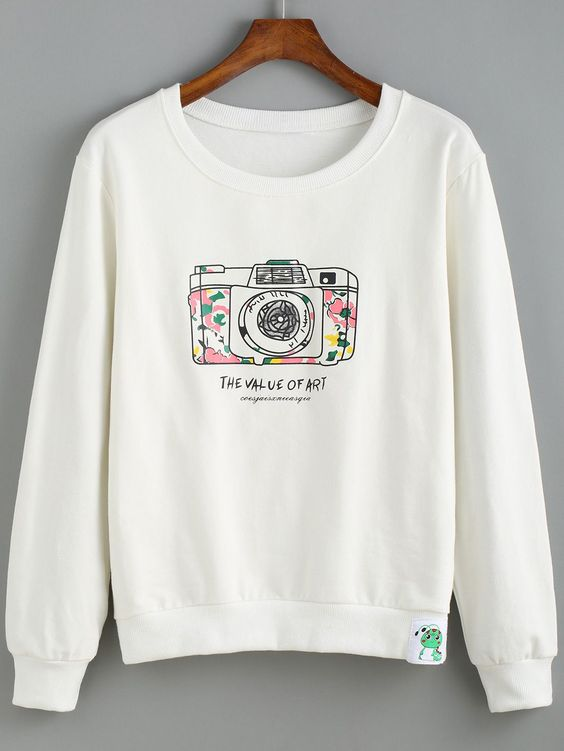 Camera Print Sweatshirt FD30