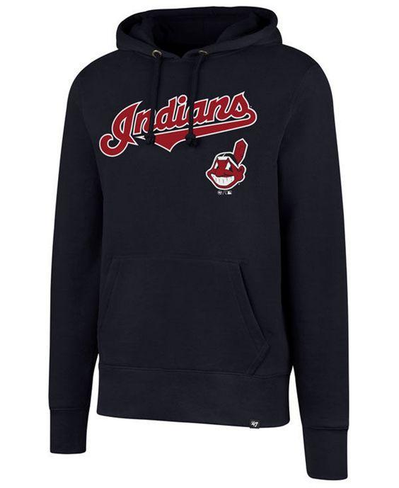 Cleveland Indians Black Hoodie DV01