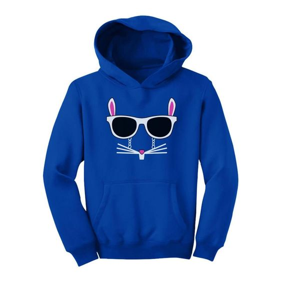 Cool Glasses Rabbit Face Youth Hoodie EL01