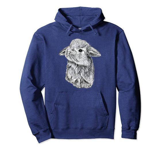 Cute Lop Eared Bunny Rabbit Hoodie EL01