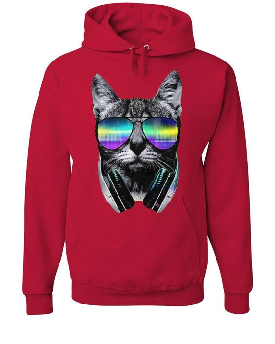 DJ Cat Hoodie SR