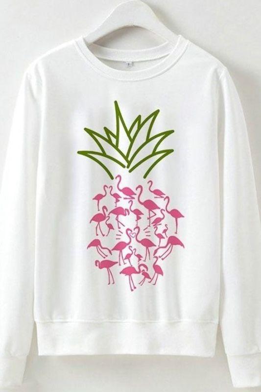 Flamingo Pineapple Sweatshirt FD30