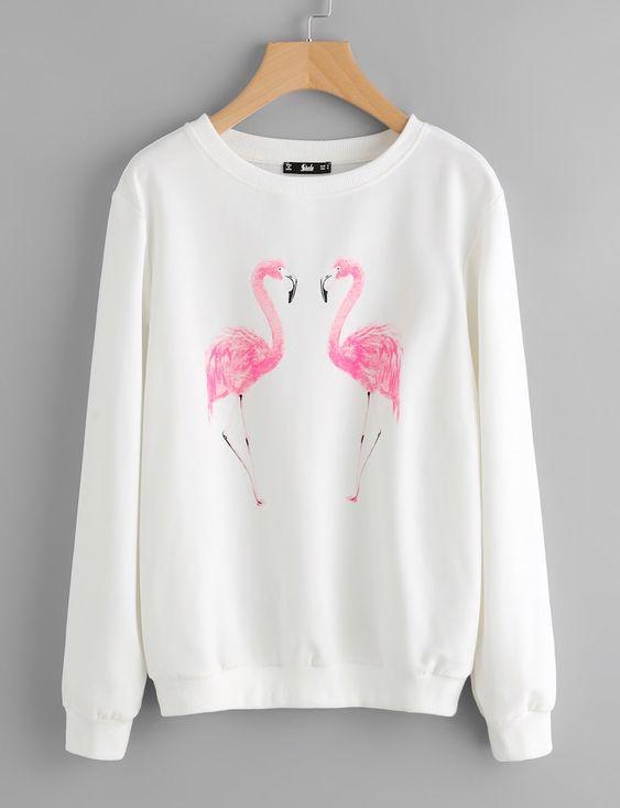 Flamingo Printed Sweatshirt DV