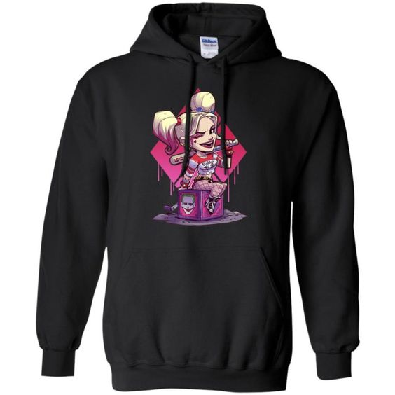 Harley Quinn Chibi With Joker Box Hoodie DV01
