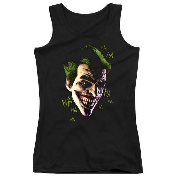 Joker Grin Ha Ha Black Tanktop DV01
