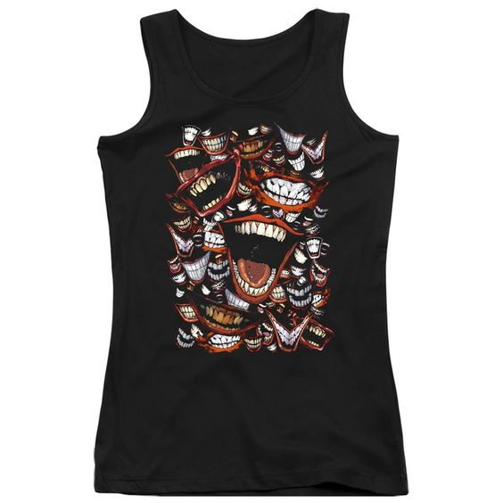 Joker Laugh Repeat Black Tanktop DV01