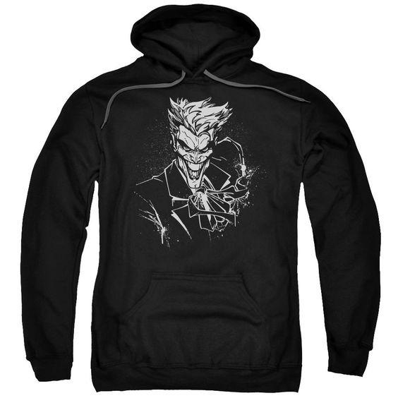Joker Splatter Smile Mens Pullover Hoodie DV01