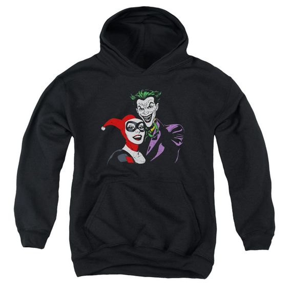 Joker and Harley Youth Pull Over Hoodie DV01