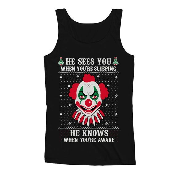 Killer Clown Joker Horror Tank Top DV01