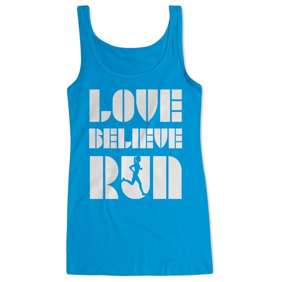 Love Believe Run Tank Top EL01