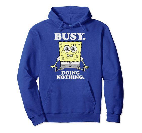 SpongeBob doing nothing Hoodie SR01