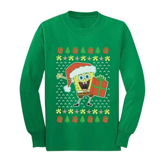 Spongebob and Christmas Sweatshirt SR01