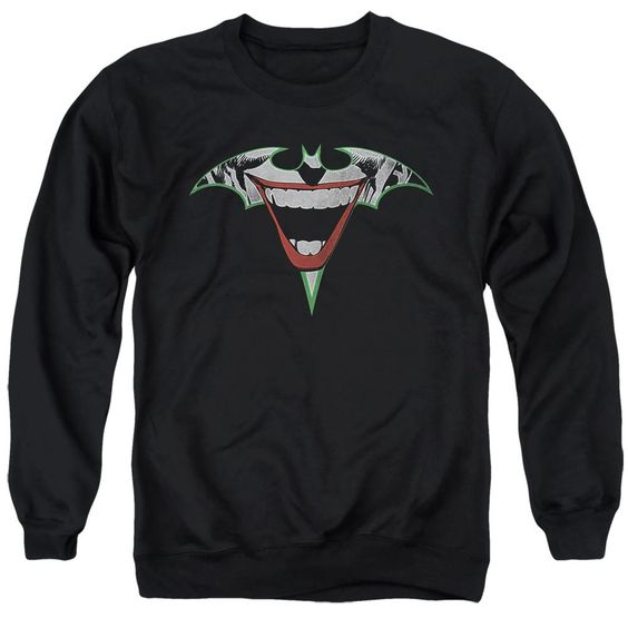Sweatshirt Joker Bat Logo Black Pullover DV01