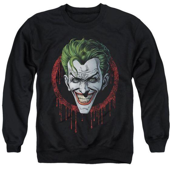 Sweatshirt Joker Drip Black Pullover DV01