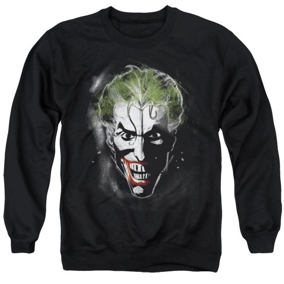 Sweatshirt Joker Face Makeup Black Pullover DV01