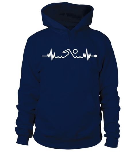 Swimming Pool Heartbeat Hoodie EL01