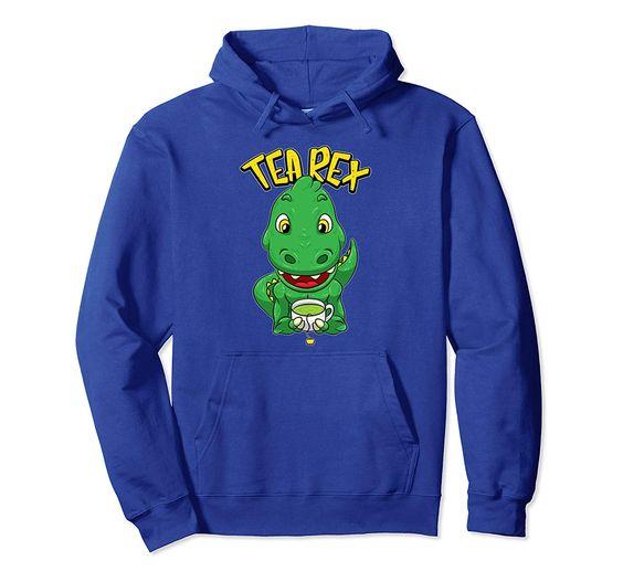 Tea Rex Funny Dinosaurs Hoodie EL