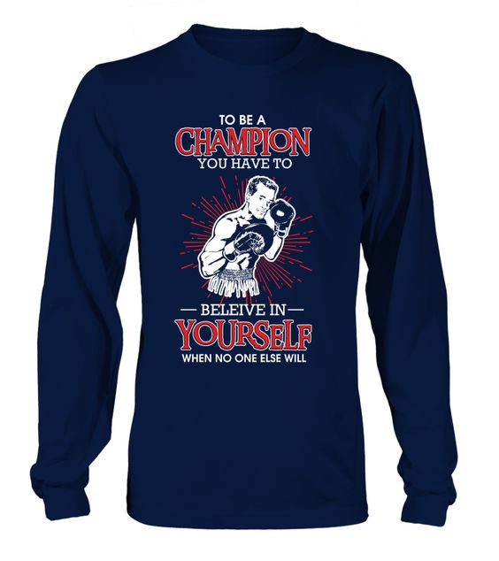 To Be A Champion Boxing Sport Sweatshirt EL01