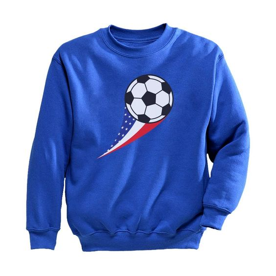 USA Soccer Ball Sweatshirt EL01