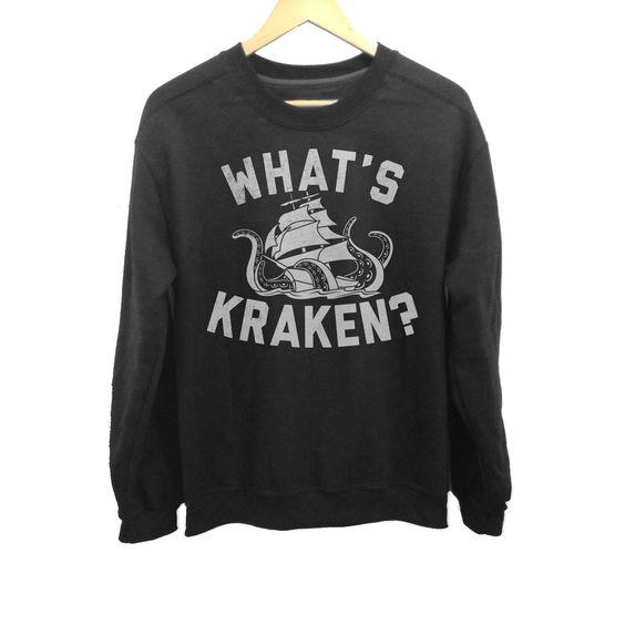 What's Kraken Sea Monster Sweatshirt FD