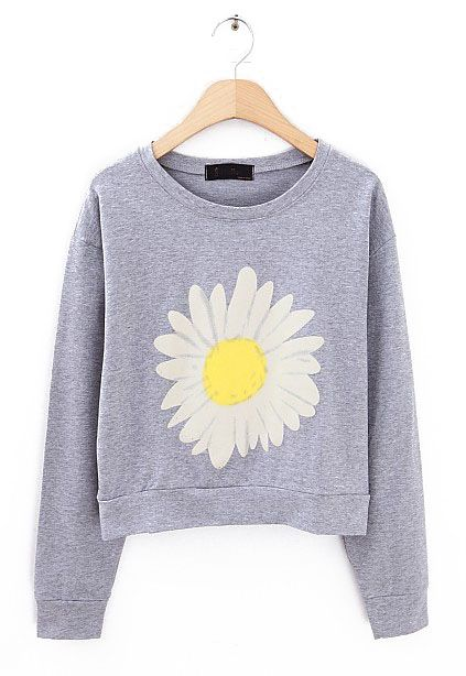White Sunflower Sweatshirt FD30
