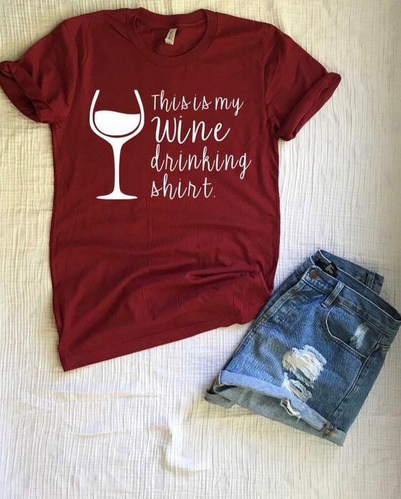 Wine drinking CuteT-Shirt DV01