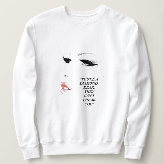 Women White sweatshirt FD30