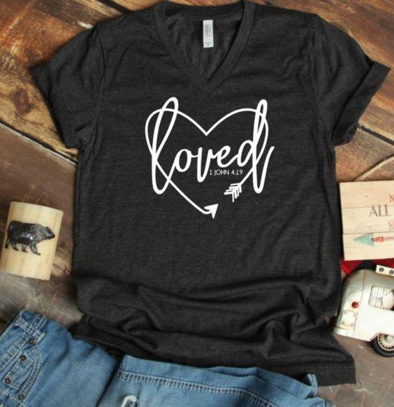 Women s Loved Cute T-Shirt DV01