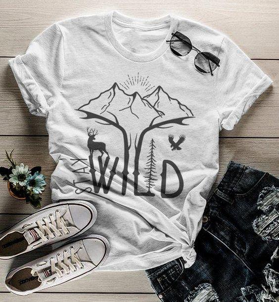 Women's Hipster graphic tee SMountains T-Shirt ER