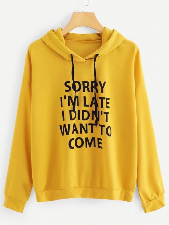 Yellow Sorry Hoodie VL30
