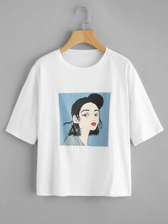 Young Casual Figure Regular T-Shirt AV01