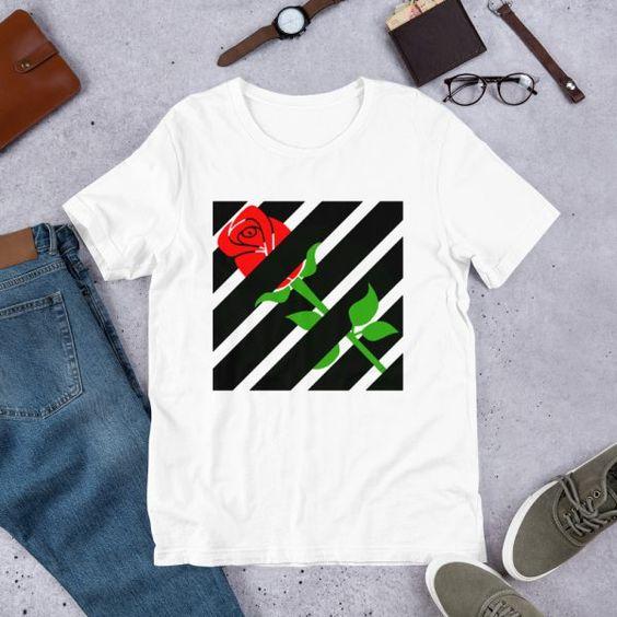 Aesthetic Red Rose T-Shirt VL13N