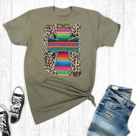 Army Serape Aztec T-Shirt VL13N