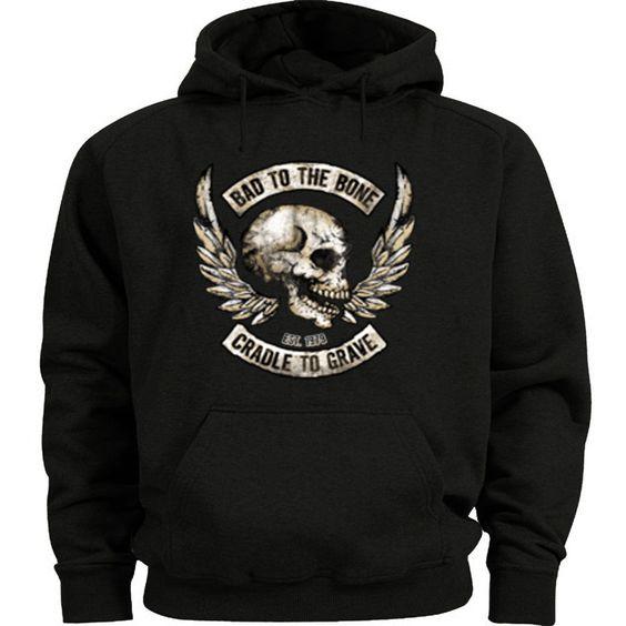 Biker Skull Hoodie EM27N