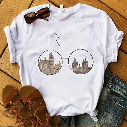 Eye Glasses Harry Potter T-shirt FD8N